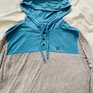 Blue and Gray Hurley Hoodie
